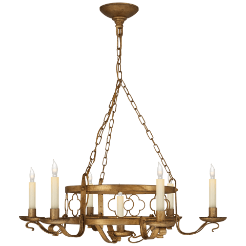 Margarite Iron Chandelier in Gilded Iron