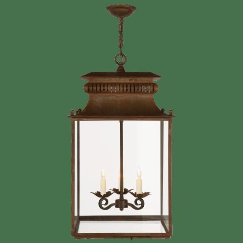 Honore Lantern in Antique Zinc