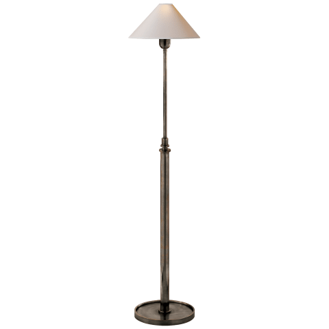 Hargett Floor Lamp in Bronze with Natural Paper Shade
