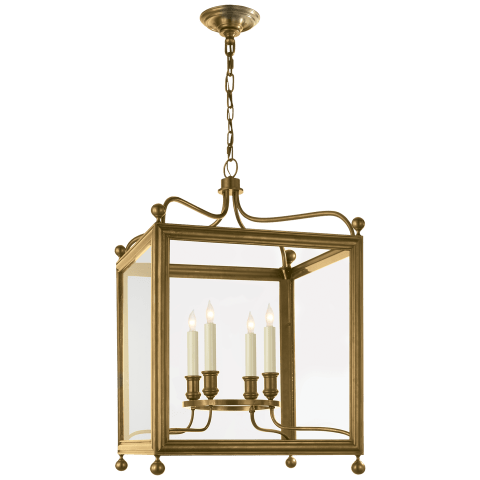 Greggory Medium Lantern in Hand-Rubbed Antique Brass