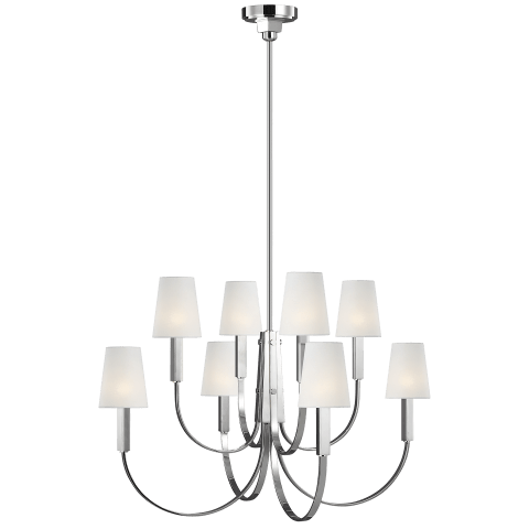 Logan Large Two-Tier Chandelier Polished Nickel
