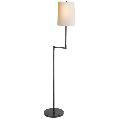 Ziyi Pivoting Floor Lamp in Bronze with Natural Paper Shade