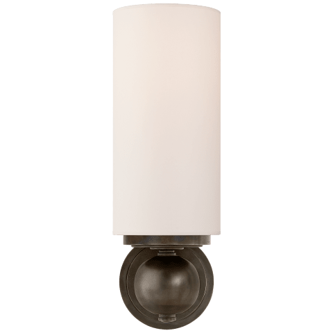 Bijon Sconce in Polished Nickel with Natural Paper Shade