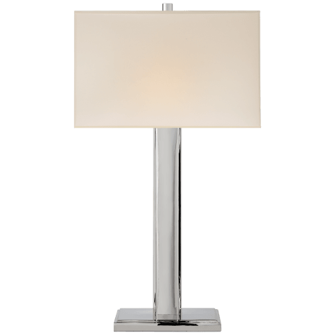 Giselle Table Lamp in Polished Nickel with Natural Paper Shade