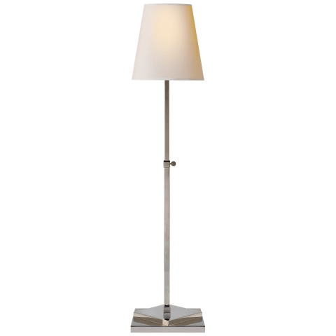 Baxter Table Lamp in Polished Nickel with Natural Paper Shade
