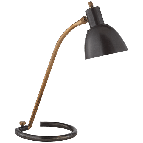 Tico Task Lamp in Bronze and Hand-Rubbed Antique Brass