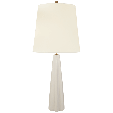 Minerva Large Table Lamp in Tea Stain with Natural Percale Shade