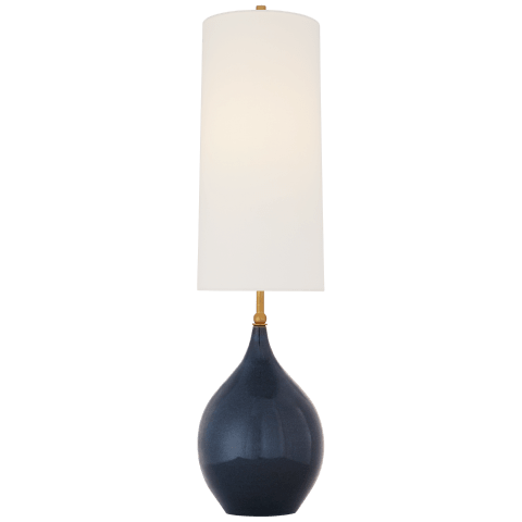 Loren Large Table Lamp in Mixed Blue Brown with Linen Shade
