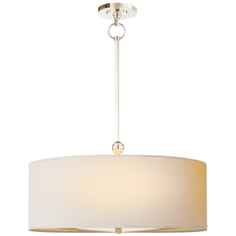 Reed Hanging Shade in Polished Nickel with Natural Paper Shade