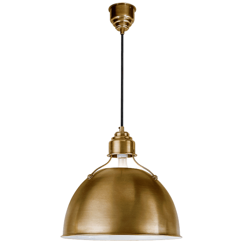 Eugene Medium Pendant in Hand-Rubbed Antique Brass