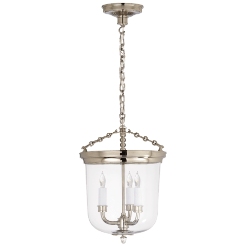Merchant Lantern in Polished Nickel with Clear Glass