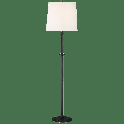 Capri 2 - Light Floor Lamp Aged Iron Bulbs Inc