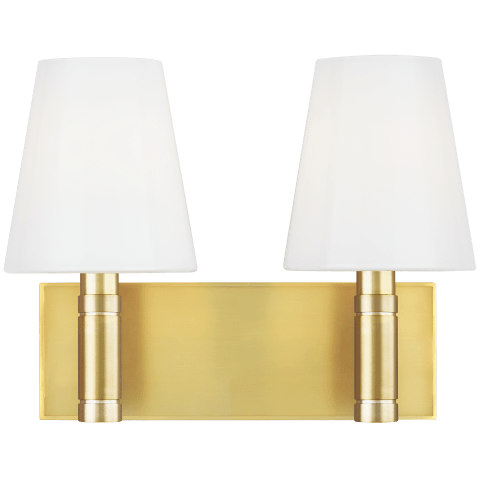 Beckham Classic 2 - Light Vanity Burnished Brass