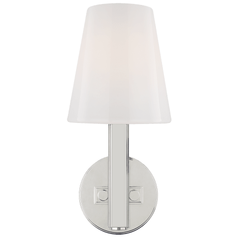 Logan 1 - Light Wall Sconce Polished Nickel