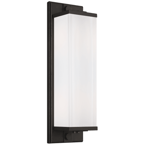 Logan Linear Tall Sconce Aged Iron