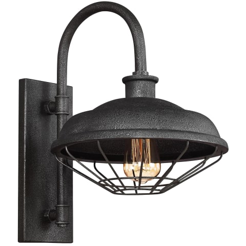 Lennex 1 - Light Indoor / Outdoor Wall Lantern Slate Grey Metal