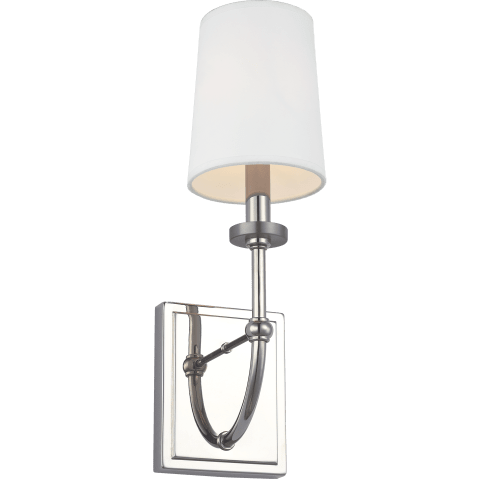 Stowe 1 - Light Wall Sconce Polished Nickel