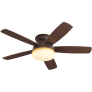 "52"" Traverse Semi-Flush Fan -  Roman Bronze"