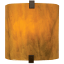 Essex Wall Glass Beach Amber antique bronze incandescent 120v