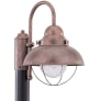 Sebring One Light Outdoor Post Lantern Weathered Copper