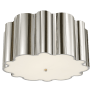 Markos Flush Mount in Polished Nickel with Frosted Acrylic