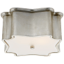 Bolsena Deco Flush Mount in Burnished Silver Leaf