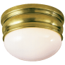 Crown Small Flush Mount in Antique-Burnished Brass