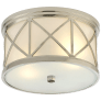 Montpelier Small Flush Mount in Polished Nickel with Frosted Glass