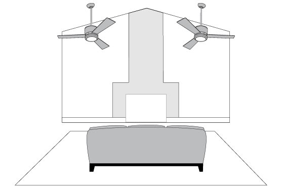 Ceiling Fan Tips - Sloped Ceilings
