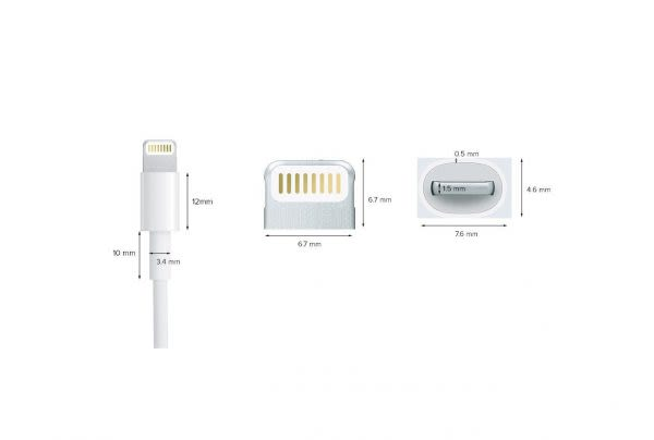 Cable Ligthning 8 pins - Blanco