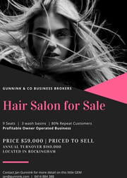 Hairdresser  business for sale in Rockingham - Image 1