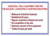 Hire Business in Melbourne