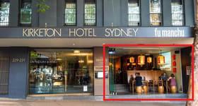 Shop & Retail commercial property for lease at 229 Darlinghurst Rd Darlinghurst NSW 2010