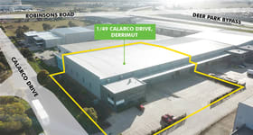 Factory, Warehouse & Industrial commercial property for lease at 1/49 Calarco Drive Derrimut VIC 3026