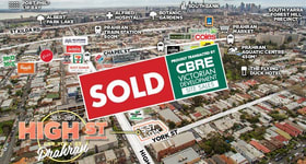 Development / Land commercial property sold at 283-289 High Street Prahran VIC 3181