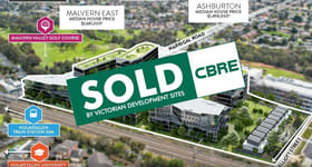 Development / Land commercial property sold at 615 Warrigal Road Ashwood VIC 3147