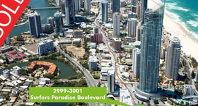 Development / Land commercial property sold at 2999-3001 Surfers Paradise Boulevard Surfers Paradise QLD 4217
