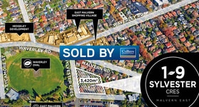 Development / Land commercial property sold at 1-9 Sylvester Crescent Malvern East VIC 3145