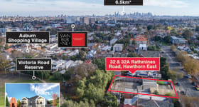Development / Land commercial property sold at 32 & 32A Rathmines Road Hawthorn East VIC 3123