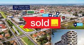 Development / Land commercial property sold at 30 Cramer Street Preston VIC 3072