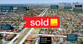 Development / Land commercial property sold at 279-281 St Georges Road Northcote VIC 3070