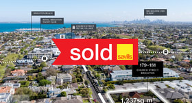 Development / Land commercial property sold at 179-181 Church Street Brighton VIC 3186