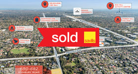 Development / Land commercial property sold at 680-682 Highbury Road Glen Waverley VIC 3150