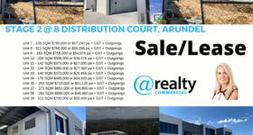 Factory, Warehouse & Industrial commercial property for lease at 7 - 41/8 Distribution Court Arundel QLD 4214