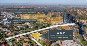 Development / Land commercial property sold at 457 Upper Heidelberg Road Heidelberg Heights VIC 3081