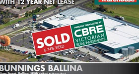 Factory, Warehouse & Industrial commercial property sold at Corner River Street & Horizon Drive Ballina NSW 2478