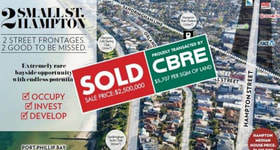 Development / Land commercial property sold at 2 Small Street Hampton VIC 3188