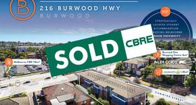 Development / Land commercial property sold at 216 Burwood Highway Burwood VIC 3125