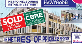 Shop & Retail commercial property sold at 291 - 311 Burwood Road Hawthorn VIC 3122