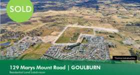 Development / Land commercial property sold at 129 Marys Mount Road Goulburn NSW 2580